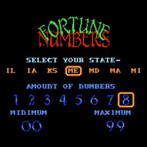 Taboo The Sixth Sense NES Select Your State