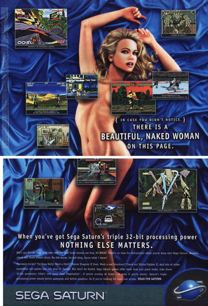 Sega Saturn retro video game ad