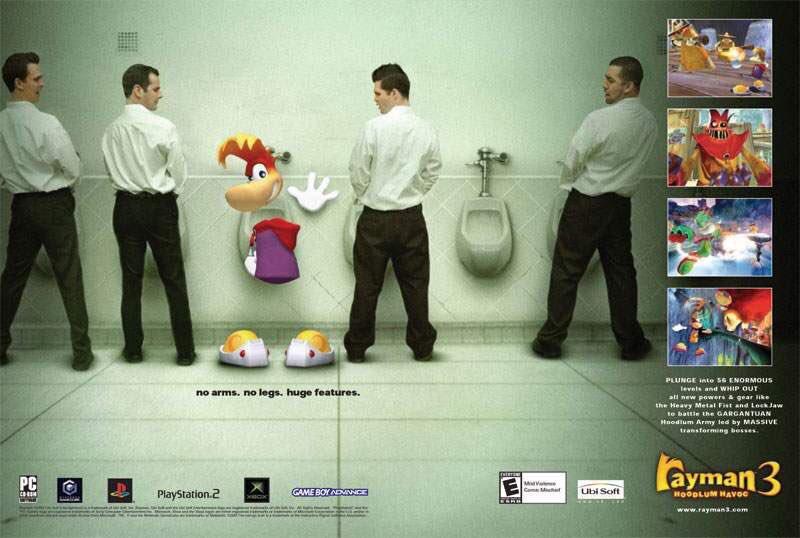 Rayman 3 retro video game ad