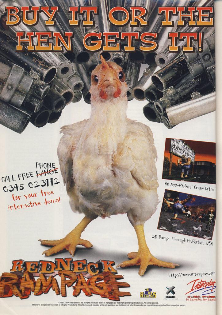 Redneck Rampage retro video game ad