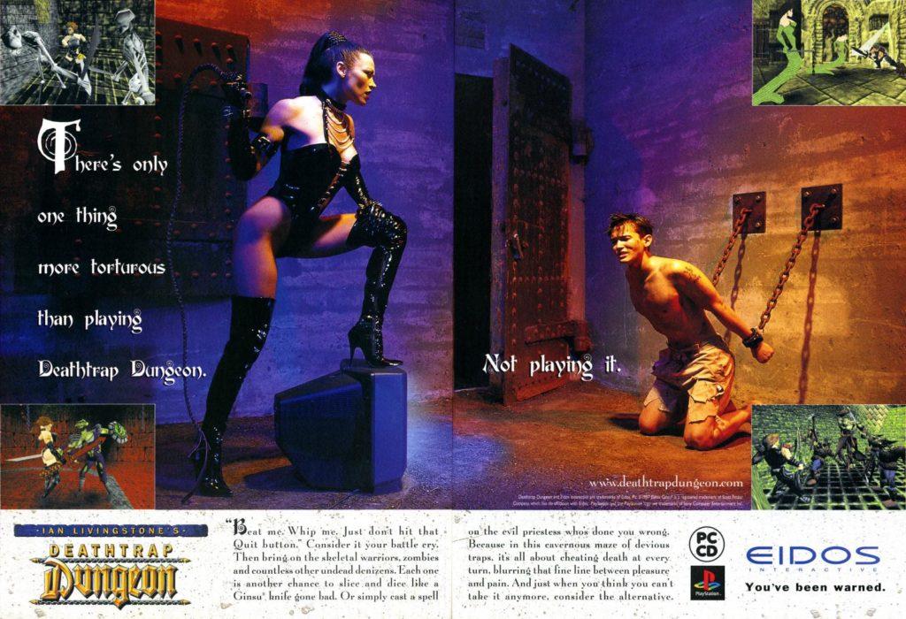 Deathrap Dungeon retro video game ad