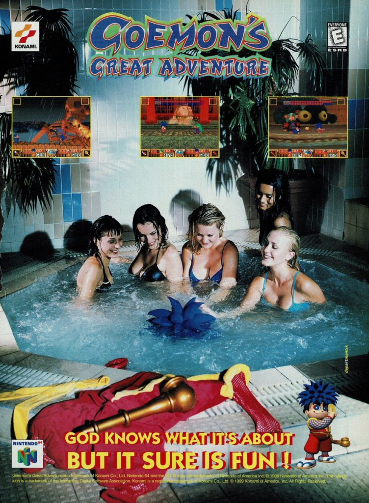 Goemon retro video game ad