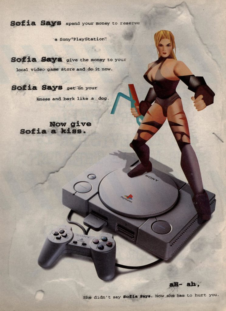PlayStation retro video game ad