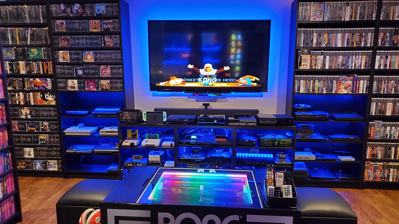 Retro Game Room Battlestation