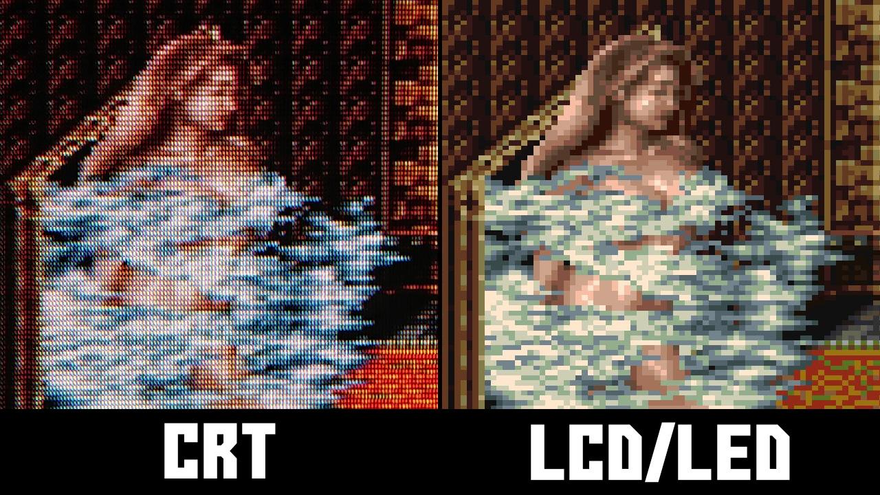Final Fantasy 6 emulation vs CRT